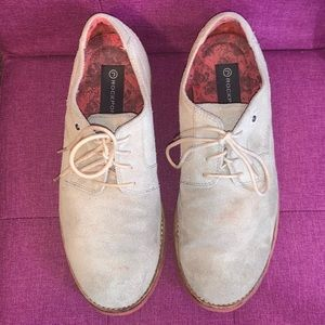 Tan Suede Rockport Oxfords